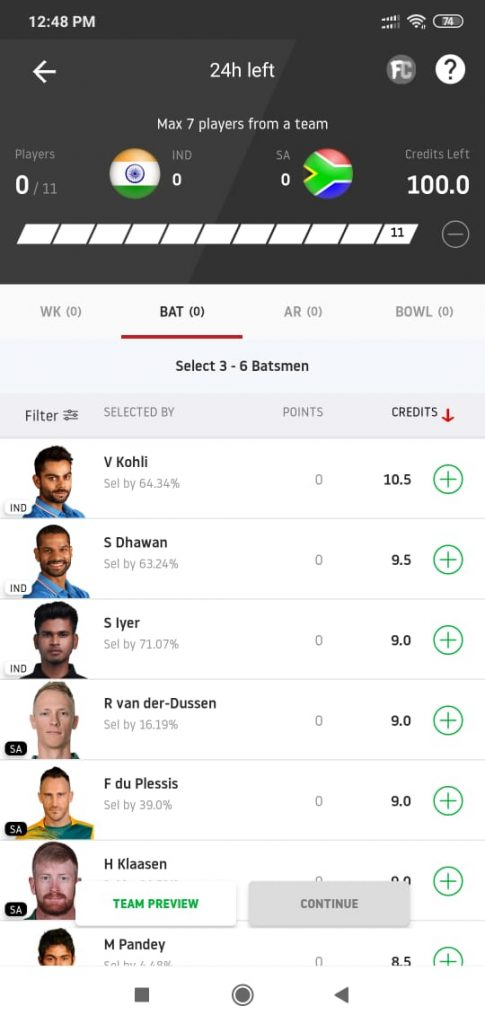 Matches you Should Not Play in Dream11-2